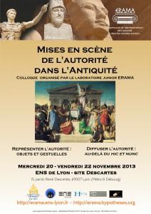 Les Mises en Scène de l'Autorité, colloque, 20-22 novembre 2013